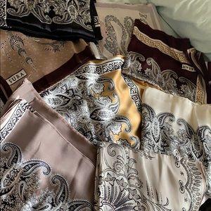100% handmade turkish silk scarfs